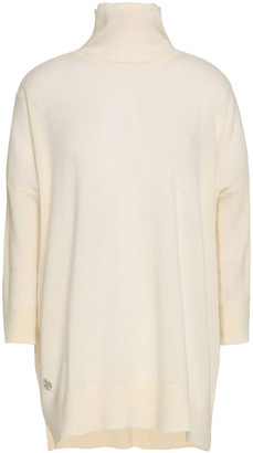 Amanda Wakeley Two-tone Cashmere And Wool-blend Turtleneck Sweater