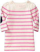 Gap Elbow-patch striped dress
