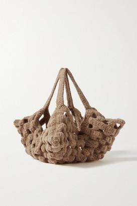 LAUREN MANOOGIAN New Grid Wool Tote - Brown