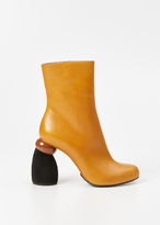 Dries Van Noten Camel / Black / Brown Colorblock Mid Boot