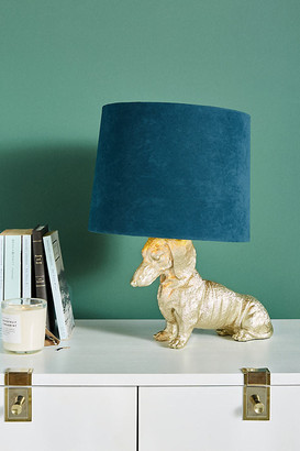 Anthropologie Dasher Dog Table Lamp By in Beige Size S