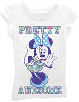 Freeze Minnie Mouse White 'Pretty Awesome' Tee - Girls
