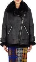 Acne Studios Women's Oversized Velocite Moto Jacket-BLACK