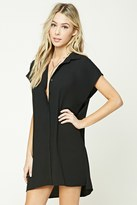 Forever 21 Button-Front Shirt Dress