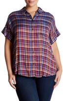 Lucky Brand Plaid Yarn Dye Shirt (Plus Size)