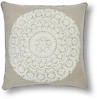 Joanna Buchanan Embroidered oversize 22x22 pillow - Natural