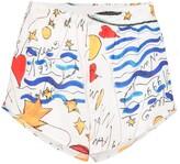 Esteban Cortazar watercolour-printed cotton shorts