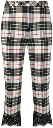 Twin-Set Tartan Print Cropped Trousers