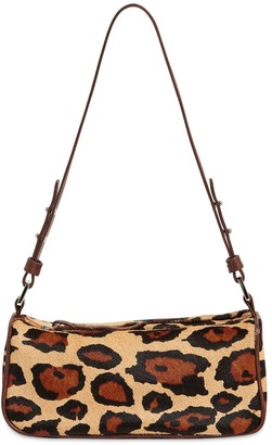 BY FAR Eve Leopard Print Pony Skin Bag