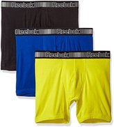 Reebok Men's 3pk Cotton Boxer Brief (Pouch)