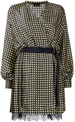 Ermanno Ermanno Geometric Belted Shift Mini Dress