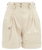 Dolce & Gabbana High-rise Cotton Cargo Shorts - Womens - Beige