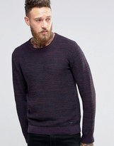 Lee Winter Crew Knit Sweater Maroon 2 Tone