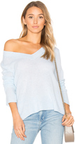 White + Warren Swing V Neck Sweater