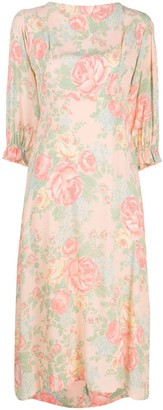 Faithfull The Brand Floral Midi Dress
