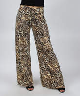 Tan Animal Palazzo Pants