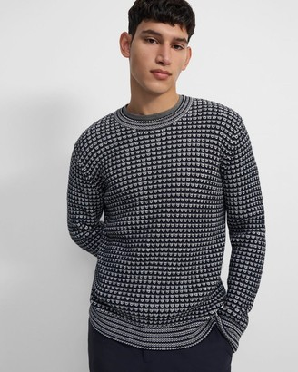Theory Textured Sweater in Organic Cotton