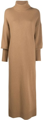 Opening Ceremony Two-Tone Knitted Turtleneck Dress