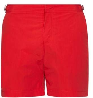 Orlebar Brown Bulldog Mid Length Swim Shorts - Mens - Red