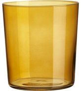 CB2 Marta Amber Double Old-Fashioned Glass