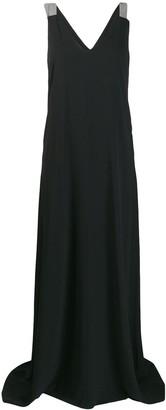 Brunello Cucinelli sleeveless flared maxi dress