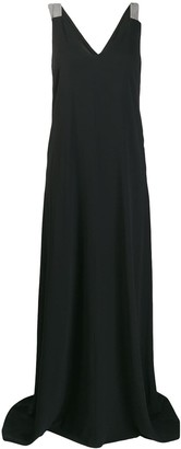 Brunello Cucinelli Sleeveless Flared Maxi Dress