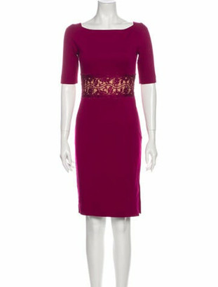 Emilio Pucci Bateau Neckline Knee-Length Dress Pink