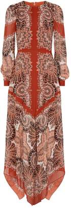 Thurley Paisley Asymmetric Zadie Dress