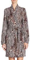SKIN Leopard-Printed Wrap Robe
