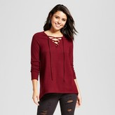 Xhilaration Women's Lace-Up Oversize Sweater Juniors')