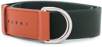 Marni two-tone D ring belt