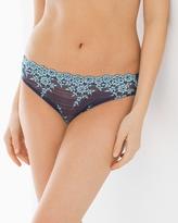 Soma Intimates Embrace Lace Bikini Peacoat/Gulf Stream