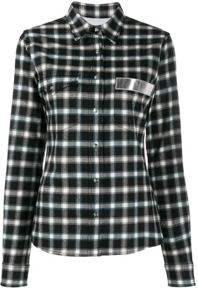 Paco Rabanne Plaid Logo Patch Shirt