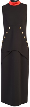 Givenchy 4G Buttoned Sleeveless Fitted Dress