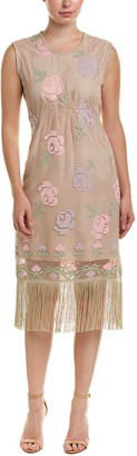 Anna Sui Counter Couture Crochet Flower Lace Shift Dress