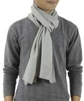 Men's Wool and Silk Scarf Muffler from India, 'Kashmir Olive'