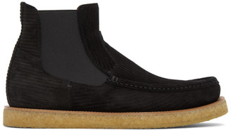 Dolce & Gabbana Black Suede Chelsea Boots