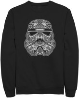 Juniors' Star Wars Stormtrooper Henna Pattern Crew Fleece Sweater