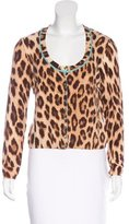 Blumarine Leopard Print Button-Up Cardigan