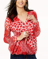 INC International Concepts I.n.c. Printed Faux-Wrap Top, Created for Macy's
