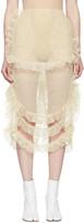 Simone Rocha Beige Tulle Ruffled Skirt
