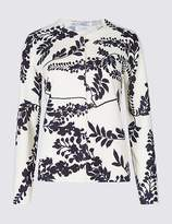 Marks and Spencer Floral Print Long Sleeve Cardigan