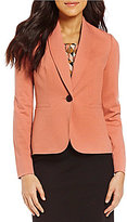 Kasper Petite Shawl-Collar One-Button Jacket