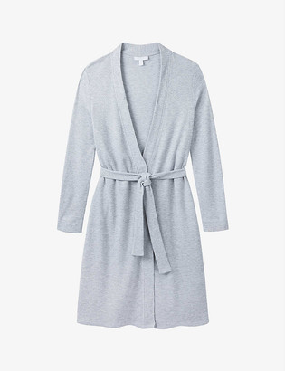 The White Company Waffle Sleep jersey dressing gown