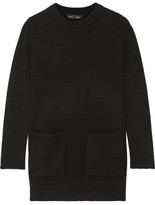 Proenza Schouler Ribbed Wool And Cashmere-blend Sweater - Black