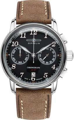 Zeppelin Men's Chronograph Quartz Watch with Leather Strap 8678-2