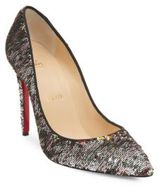 Christian Louboutin Pigalle Follies 100 Sequin Point Toe Pumps