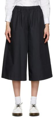 Comme des Garçons Comme des Garçons Navy Gabardine Pull-On Trousers