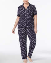 Nautica Plus Size Printed Short-Sleeve Pajama Set
