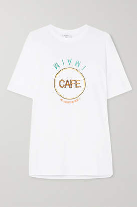 Vetements Embroidered Cotton-jersey T-shirt - White